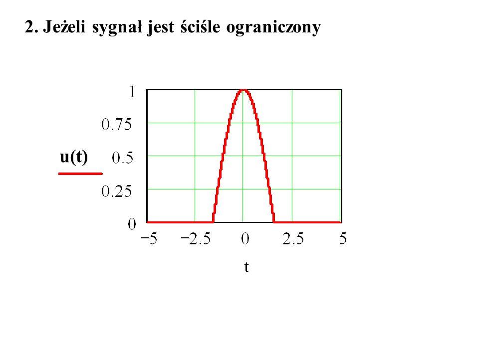 2. Jeżeli sygnał jest ściśle ograniczony u(t)
