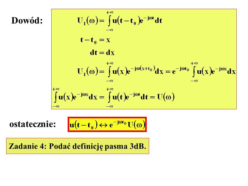 s(t) t Rozwinięcie prostokątnej fali nośnej ma postać: Sygnał wyjściowy modulatora pierścieniowego
