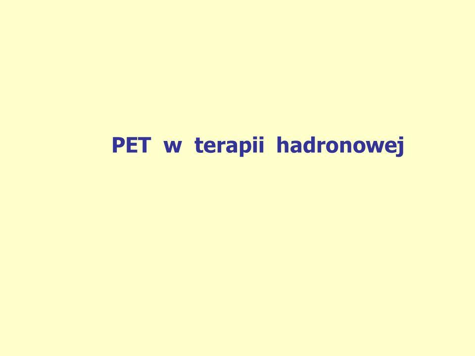 PET w terapii hadronowej