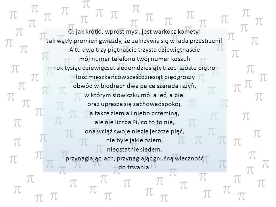 Matematyk ten wyznaczył 248 cyfr rozwinięcia liczby pi.