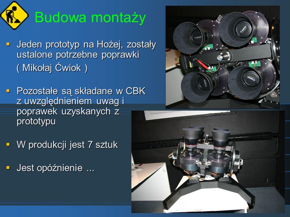 Budowa montaży Jeden prototyp na Hożej, zostały ustalone potrzebne poprawki Jeden prototyp na Hożej, zostały ustalone potrzebne poprawki ( Mikołaj Ćwi