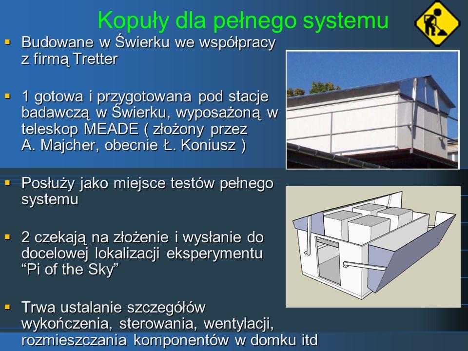 Kopuły dla pełnego systemu Budowane w Świerku we współpracy z firmą Tretter Budowane w Świerku we współpracy z firmą Tretter 1 gotowa i przygotowana p