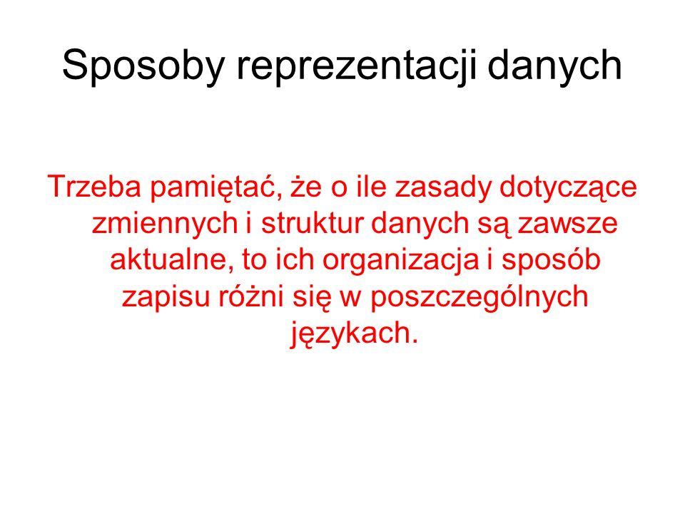 wyższe poziomy Języki programowania ogólnych zastosowań (algorytmiczne) instrukcje symboliczne na które składa się często wiele rozkazów komputera Języki zorientowane dziedzinowo programista określa co chce zrobić a nie jak http://zti.polsl.pl/pi/
