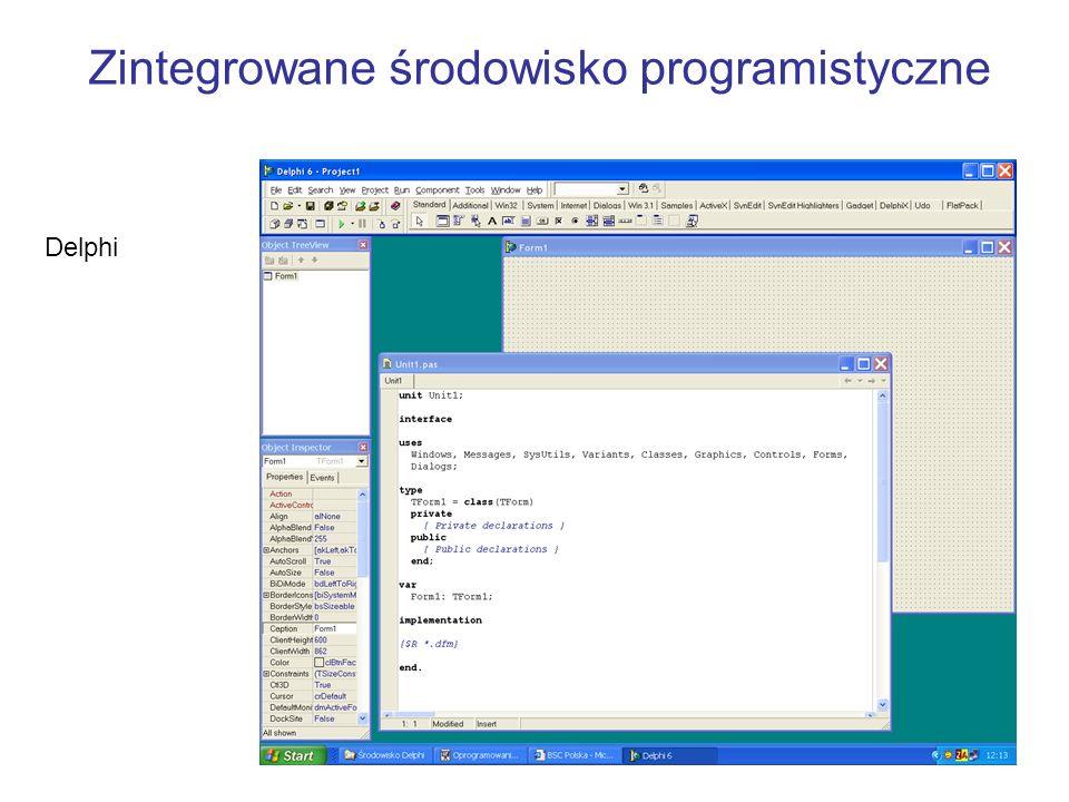 Zintegrowane środowisko programistyczne Delphi