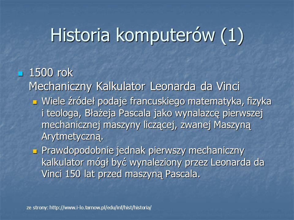 Historia komputerów (12) Jeden z pierwszych układów scalonych ok.