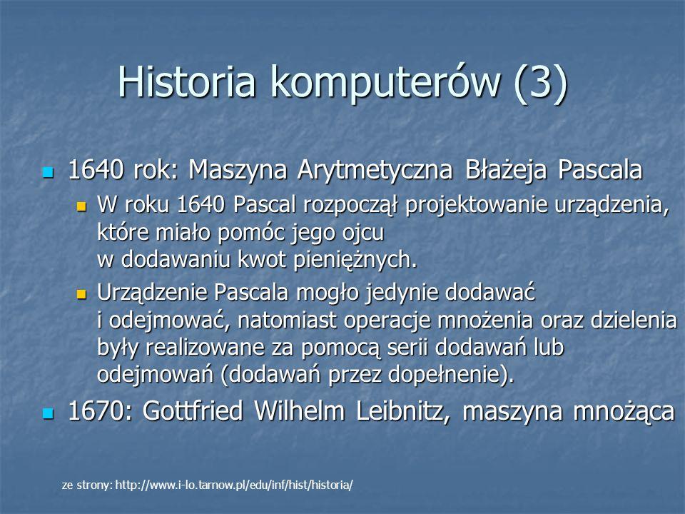 Historia komputerów (14) http://en.wikipedia.org/wiki/Image:Wgsimonmooreslaw001.jpg