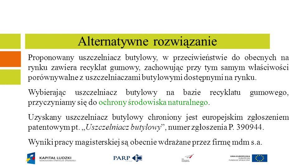 Literatura 1.http://www.utylizacjaopon.pl/ 2.http://www.recykl.pl/ 3.http://rymix.pl/bis/sites/p_typy.html 4.http://www.etrampki.pl/buty-timberland/2506,-Buty-w-zgodzie-z-natura.html 5.http://www.powderandbulk.pl/artykul_636_2.html 6.Magryta J., Dębek C., Stępkowski R., Zastosowanie produktów pirolizy zużytych opon samochodowych w mieszankach gumowych, konferencja Elastomery 2009 7.Dunn D.J.