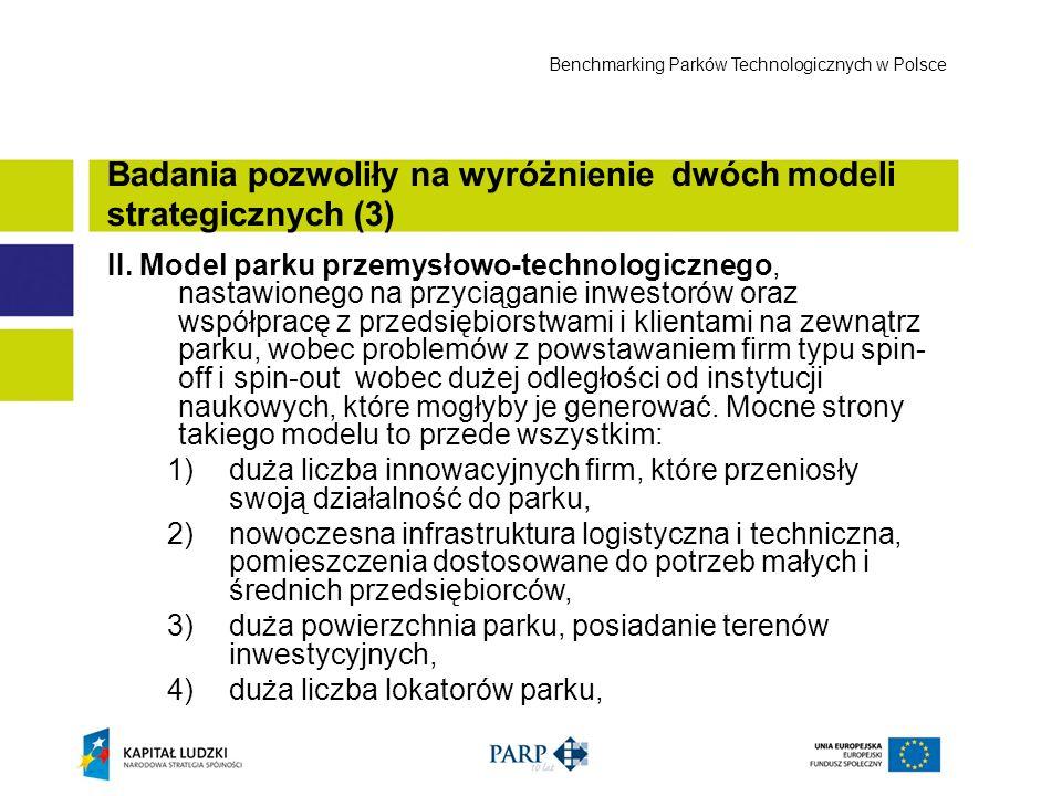 II. Model parku przemysłowo-technologicznego, nastawionego na przyciąganie inwestorów oraz współpracę z przedsiębiorstwami i klientami na zewnątrz par