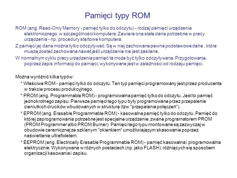ROM (ang. Read-Only Memory - pamięć tylko do odczytu) - rodzaj pamięci urządzenia elektronicznego, w szczególności komputera. Zawiera ona stałe dane p