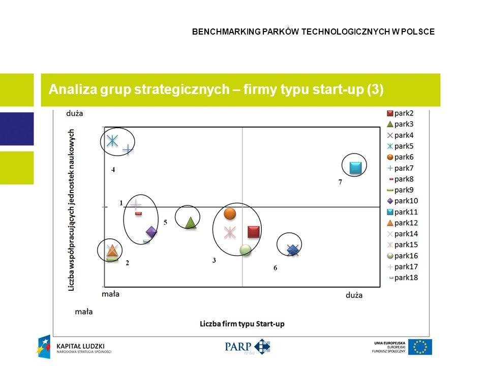 Analiza grup strategicznych – firmy typu start-up (3) BENCHMARKING PARKÓW TECHNOLOGICZNYCH W POLSCE