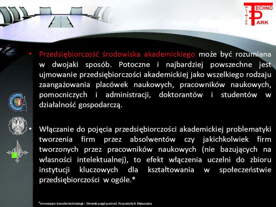 Przedsiębiorczość środowiska akademickiego może być rozumiana w dwojaki sposób. Potoczne i najbardziej powszechne jest ujmowanie przedsiębiorczości ak