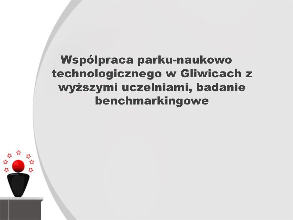 Wspólpraca parku-naukowo technologicznego w Gliwicach z wyższymi uczelniami, badanie benchmarkingowe