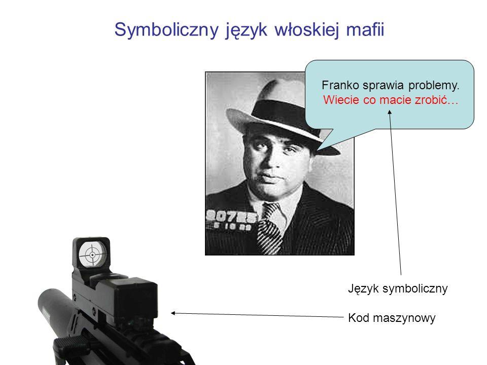 Symboliczny język włoskiej mafii Franko sprawia problemy. Wiecie co macie zrobić… Język symboliczny Kod maszynowy