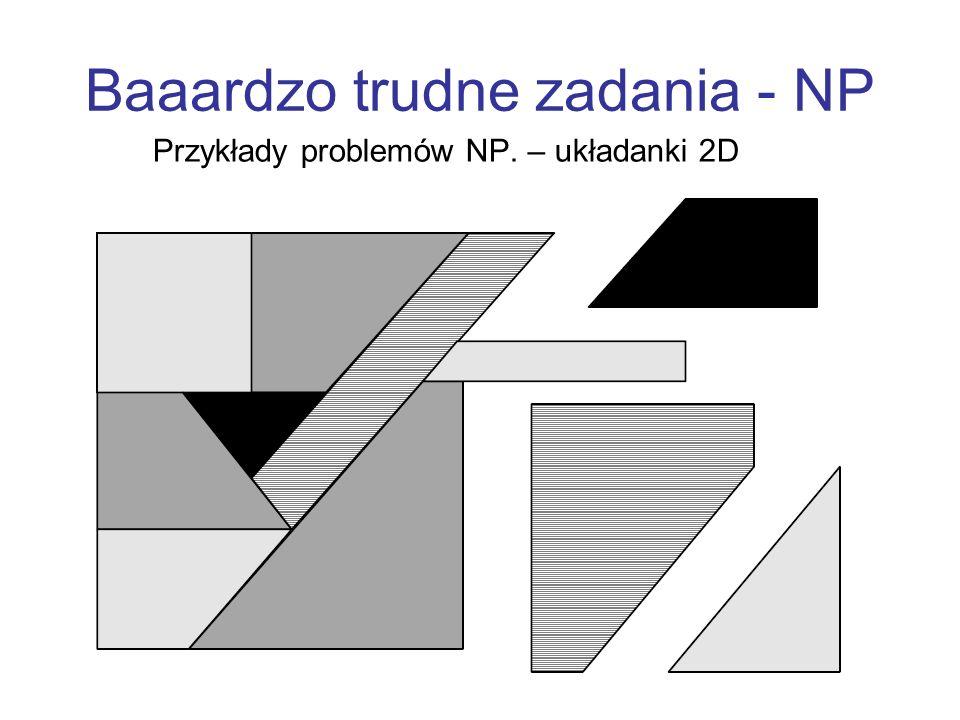 Baaardzo trudne zadania - NP Przykłady problemów NP. – układanki 2D