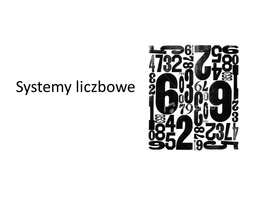 Systemy liczbowe