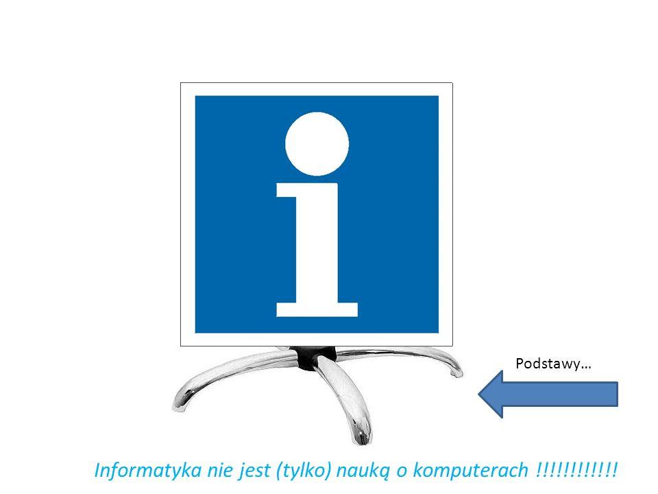 Podstawy… Informatyka nie jest (tylko) nauką o komputerach !!!!!!!!!!!!