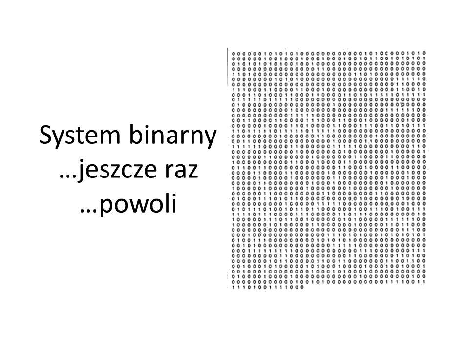 System binarny …jeszcze raz …powoli