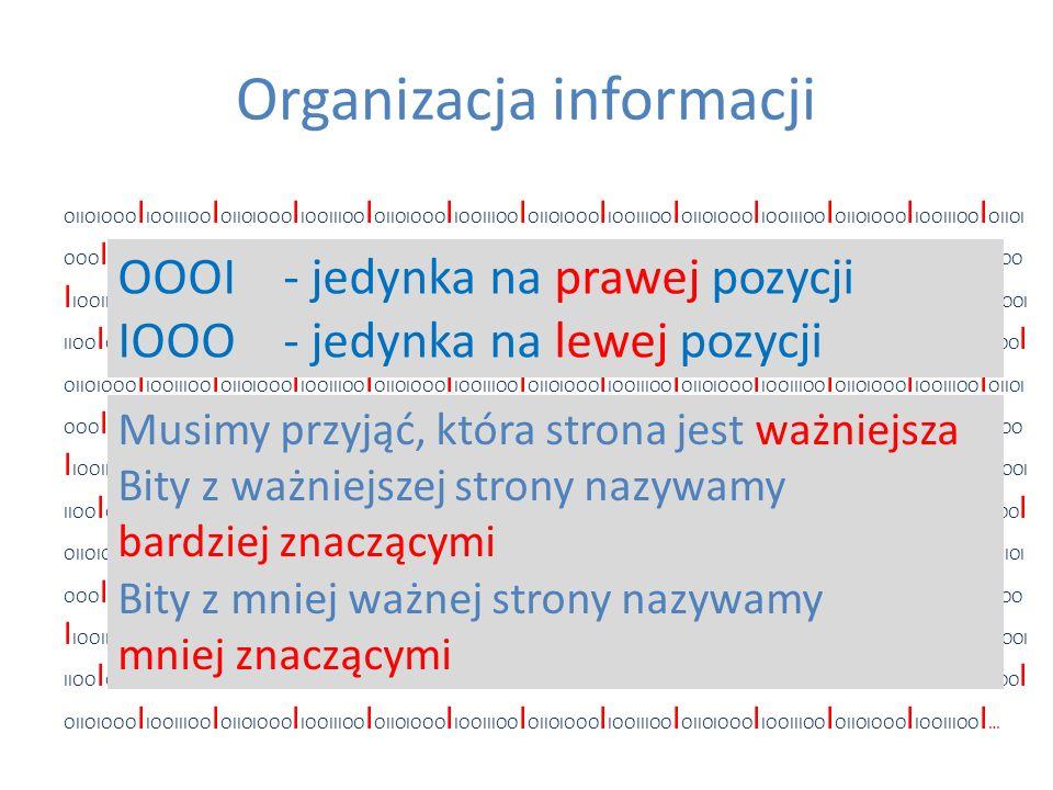 Organizacja informacji OIIOIOOO I IOOIIIOO I OIIOIOOO I IOOIIIOO I OIIOIOOO I IOOIIIOO I OIIOIOOO I IOOIIIOO I OIIOIOOO I IOOIIIOO I OIIOIOOO I IOOIII
