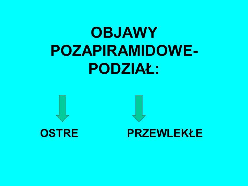 postępowanie: - propranolol-30-160mg/dobę; -benzodiazepiny; -pmantadyna; -przy uporczywej akatyzji skuteczne bywają też:klonidyna,selegilina lub małe dawki amitriptyliny.