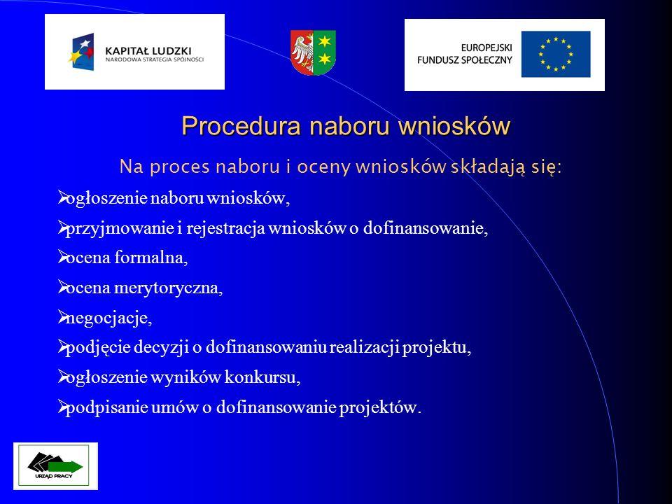 Weryfikacja formalna Weryfikacja formalna odbywa się według kolejności zarejestrowania wniosku w sekretariacie WUP (numeracja w dzienniku korespondencji) – pracownik sekretariatu nie otwiera wniosku który jest odpowiedzią na ogłoszony konkurs.
