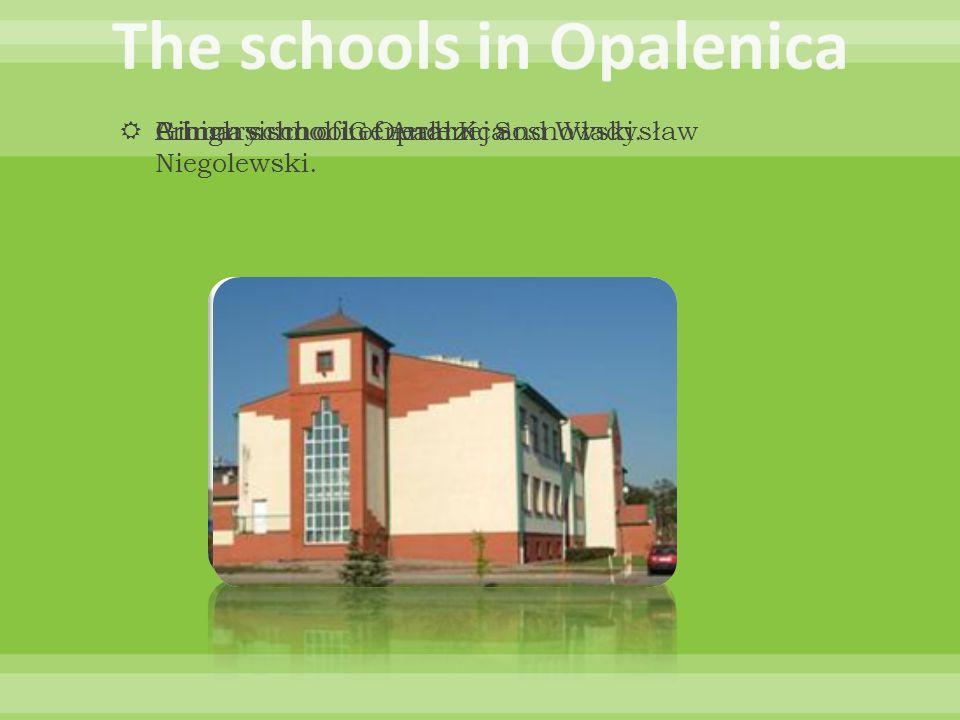 Primary school of Andrzej and Władysław Niegolewski. Gimnasium of General K. Sosnowski. A high school in Opalenica
