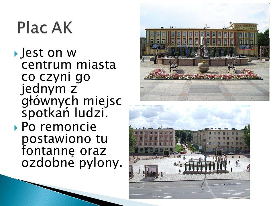 Jest on w centrum miasta co czyni go jednym z głównych miejsc spotkań ludzi. Po remoncie postawiono tu fontannę oraz ozdobne pylony.