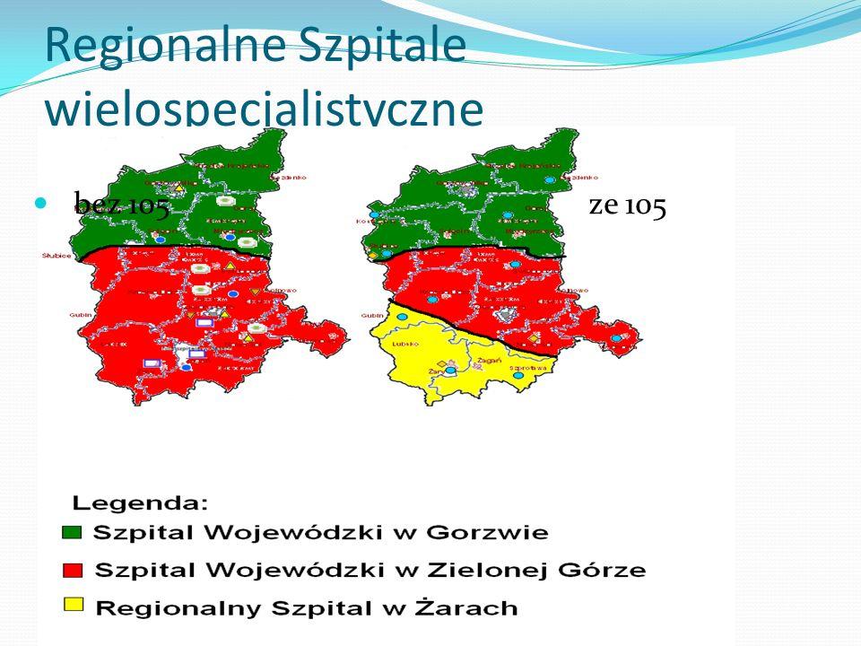 Regionalne Szpitale wielospecjalistyczne bez 105 ze 105