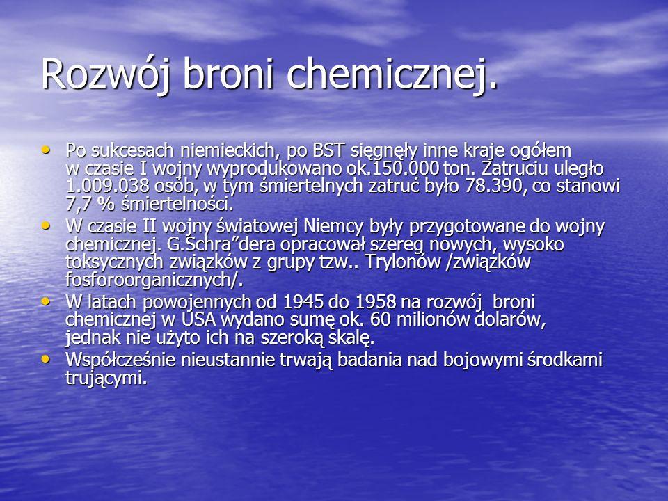 Historia broni chemicznej. cd. Jednak za skuteczny napad chemiczny czasów nowożytnych przyjęto zastosowanie chloru przez Niemców w 1915 r., pod Ypres