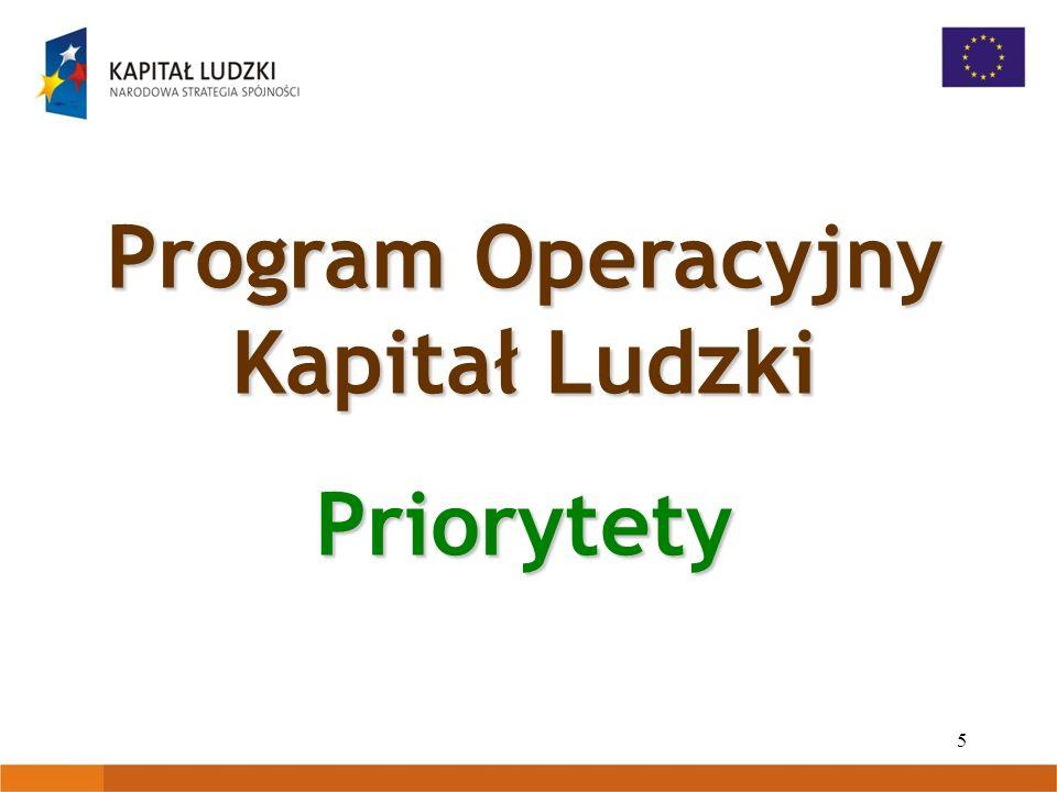 5 Program Operacyjny Kapitał Ludzki Priorytety