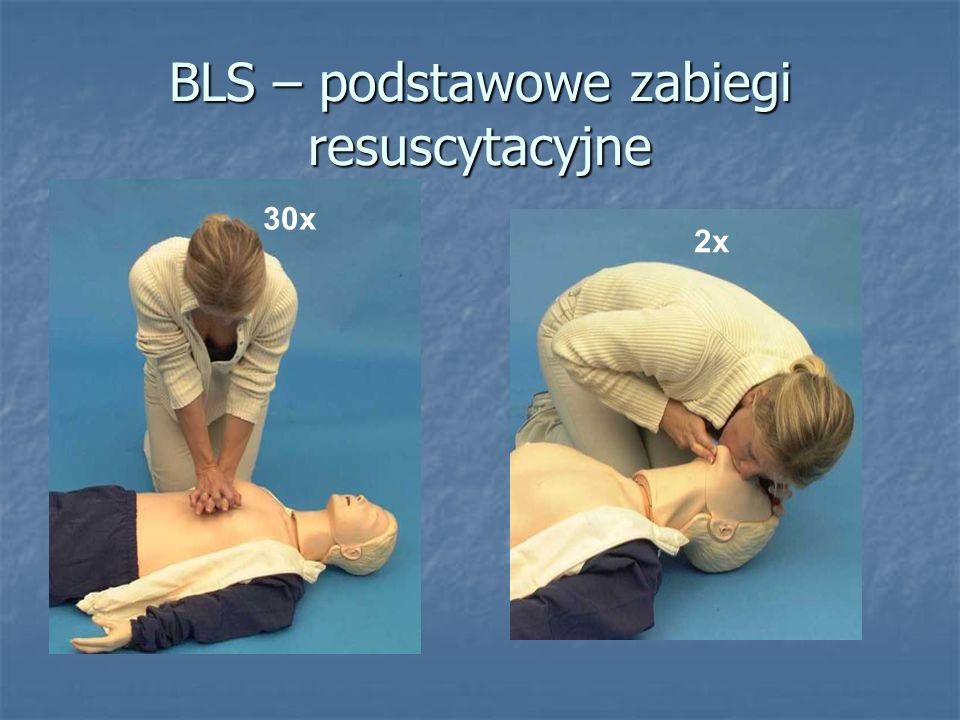 BLS – podstawowe zabiegi resuscytacyjne 30x 2x