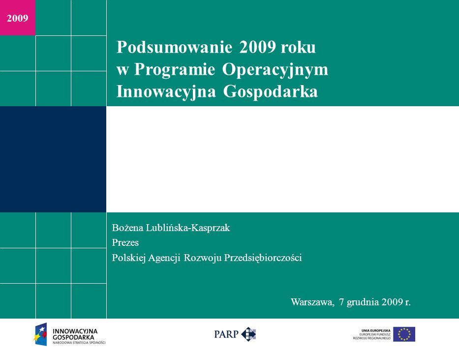 Warszawa, 7.12.09 r. Działanie 4.4 - nowe inwestycje o wysokim potencjale innowacyjnym