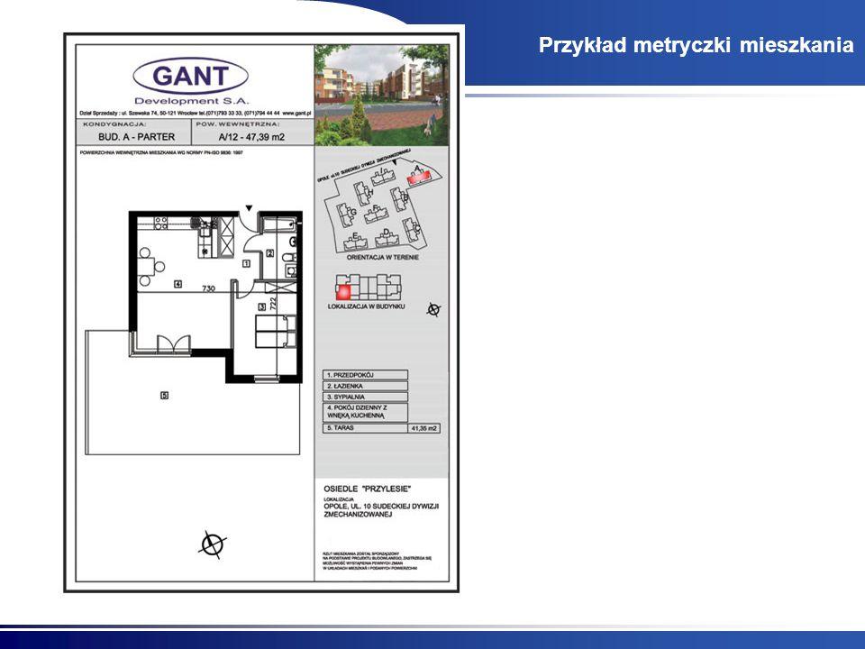 Przykład metryczki mieszkania