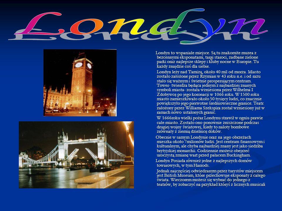 Anglia to największa i najważniejsza część Wielkiej Brytanii. Tu znajduje się stolica – Londyn, który jest centrum rządowym. Anglia została zasiedlona