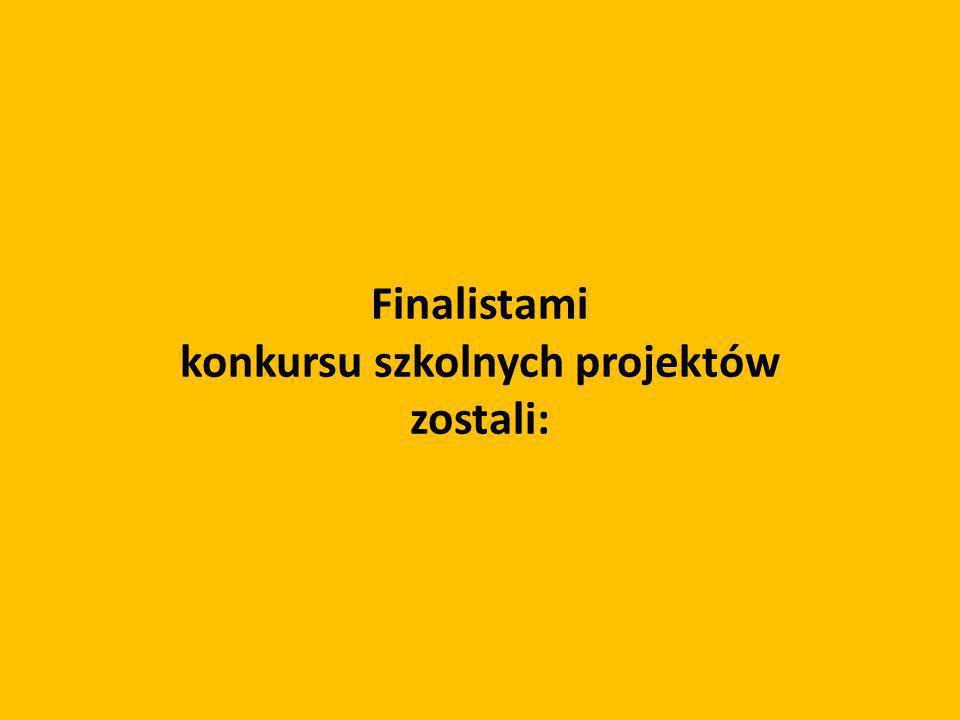 Finalistami konkursu szkolnych projektów zostali: