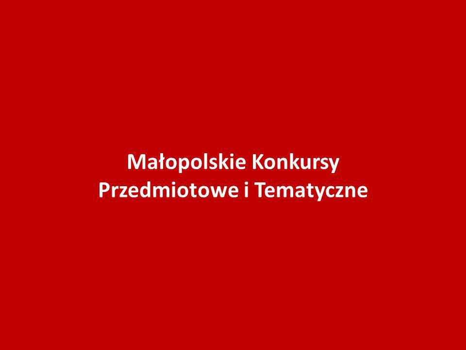 Małopolskie Konkursy Przedmiotowe i Tematyczne