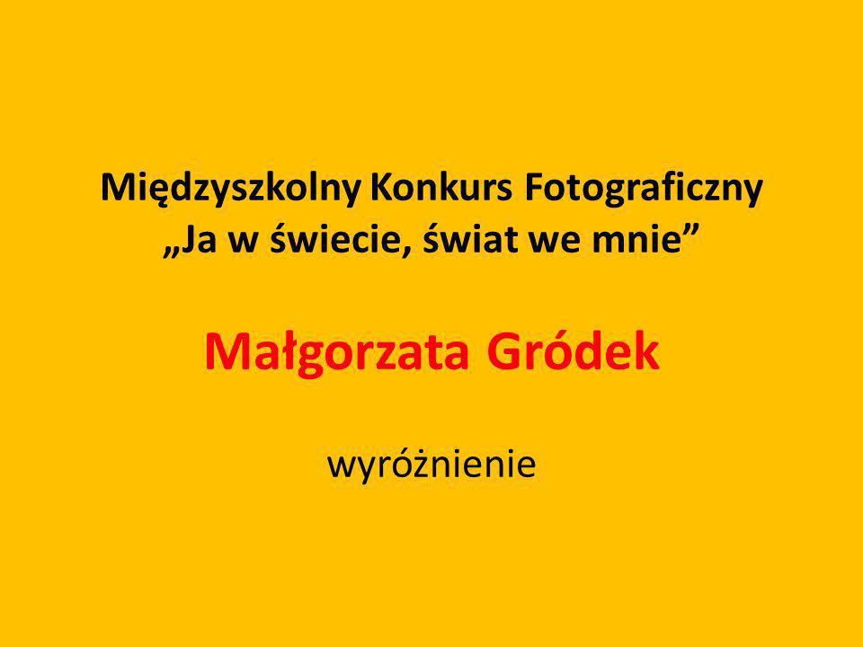 Międzyszkolny Konkurs Fotograficzny Ja w świecie, świat we mnie Małgorzata Gródek wyróżnienie