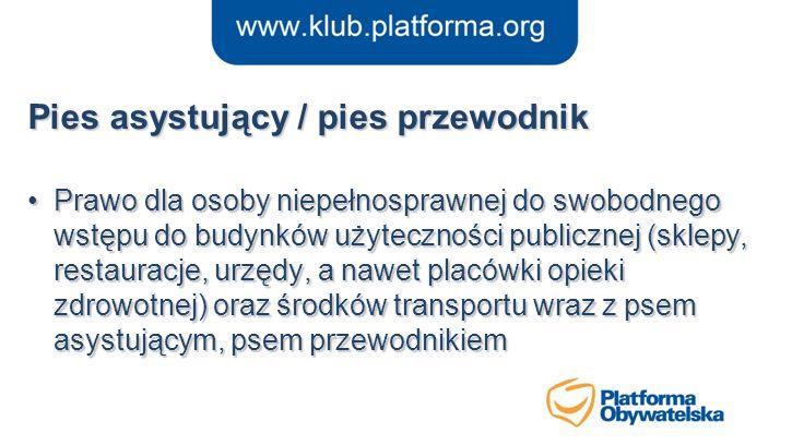 Sejm bez barier Wzorcowe dostosowanie budynków i obszaru wokół Sejmu do potrzeb osób niepełnosprawnych (wejście na mównicę główną, przejścia, windy, toalety, oznakowanie), Podobne prace wykonane w Kancelarii Premiera, Prowadzone prace w Senacie i innych budynkach organów naczelnych i centralnych.