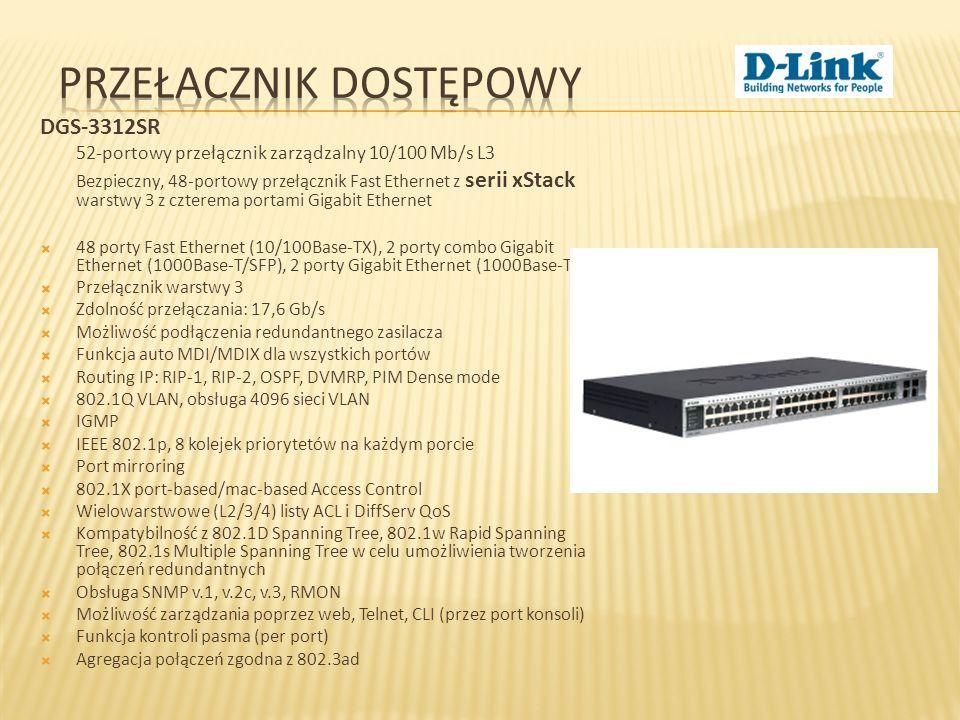 DGS-3312SR 52-portowy przełącznik zarządzalny 10/100 Mb/s L3 Bezpieczny, 48-portowy przełącznik Fast Ethernet z serii xStack warstwy 3 z czterema port