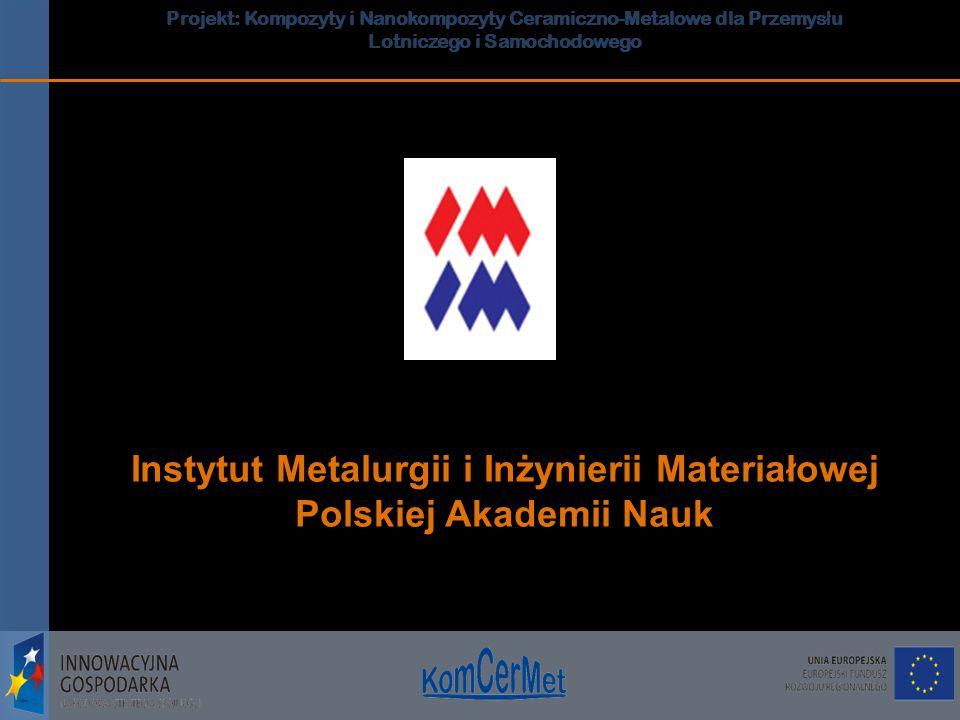 Projekt: Kompozyty i Nanokompozyty Ceramiczno-Metalowe dla Przemys ł u Lotniczego i Samochodowego Projekt: Kompozyty i Nanokompozyty Ceramiczno-Metalo