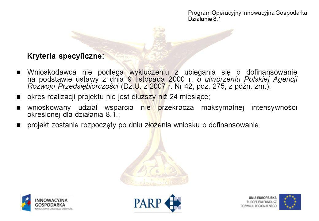 Wnioskodawca nie podlega wykluczeniu z ubiegania się o dofinansowanie na podstawie ustawy z dnia 9 listopada 2000 r. o utworzeniu Polskiej Agencji Roz