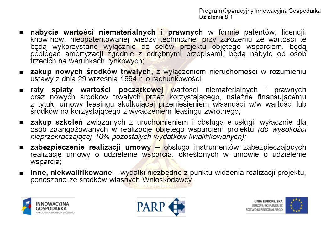 Dokumenty związane z działaniem 8.1 PO IG są dostępne na stronie internetowej Polskiej Agencji Rozwoju Przedsiębiorczości: www.parp.gov.pl Dokładny adres: http://www.parp.gov.pl/index/index/745