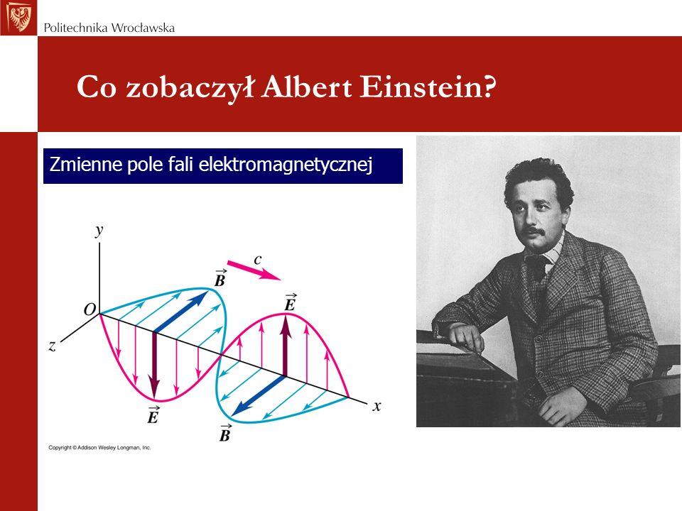 Zmienne pole fali elektromagnetycznej Co zobaczył Albert Einstein?