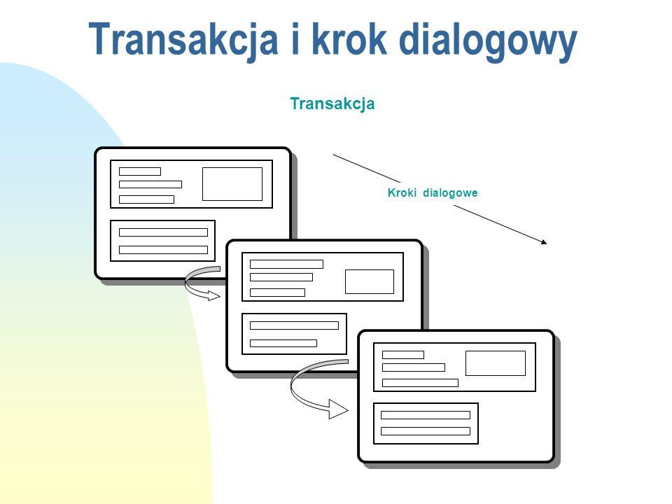Transakcja i krok dialogowy Transakcja Kroki dialogowe