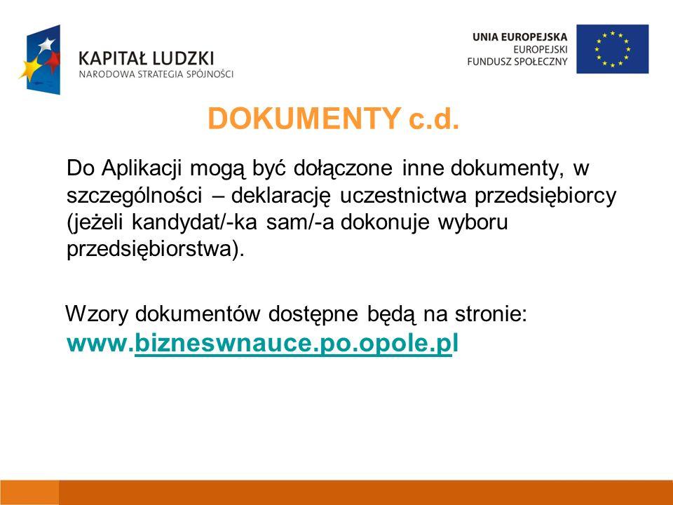 DOKUMENTY c.d.