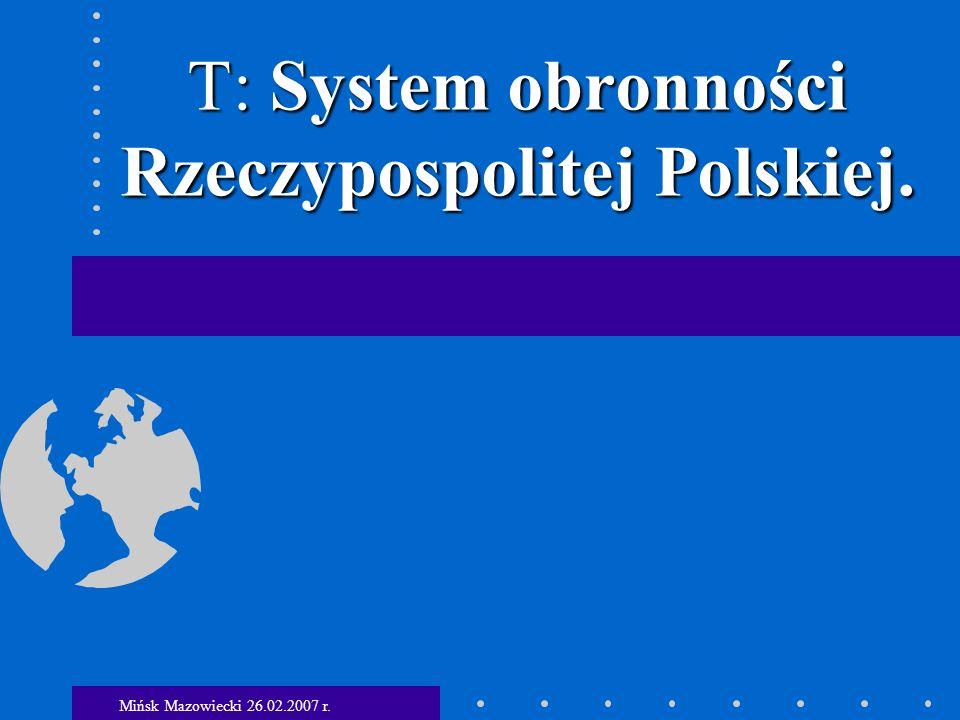 1.Wyzwania i zagrożenia polityczno- militarne.2.System obronności i jego podsystemy.