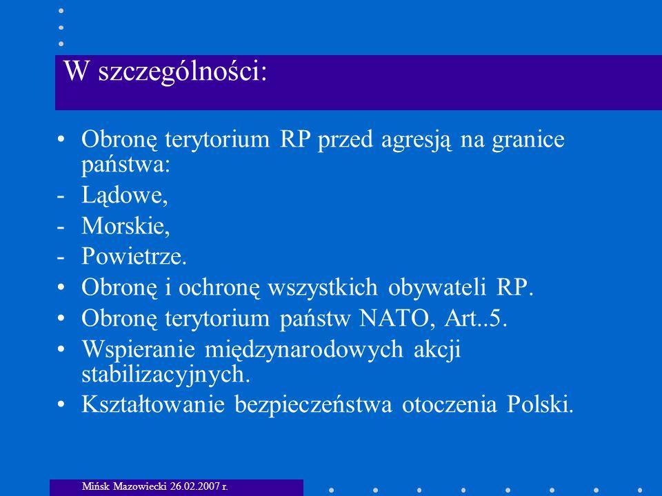 1.Wyzwania i zagrożenia polityczno-militarne.
