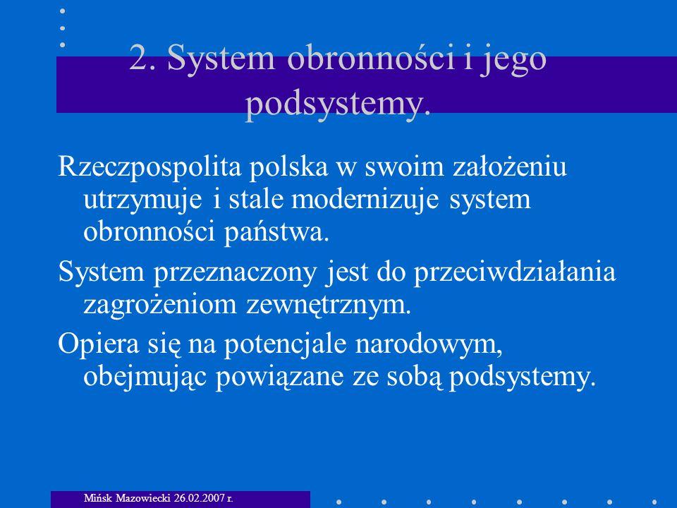 Podsystem Pozamilitarny Ogniwa informacyjne Mińsk Mazowiecki 26.02.2007 r.