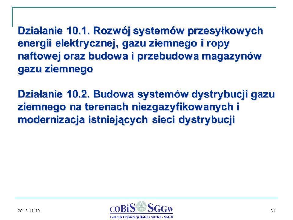 2013-11-10 31 Działanie 10.1.