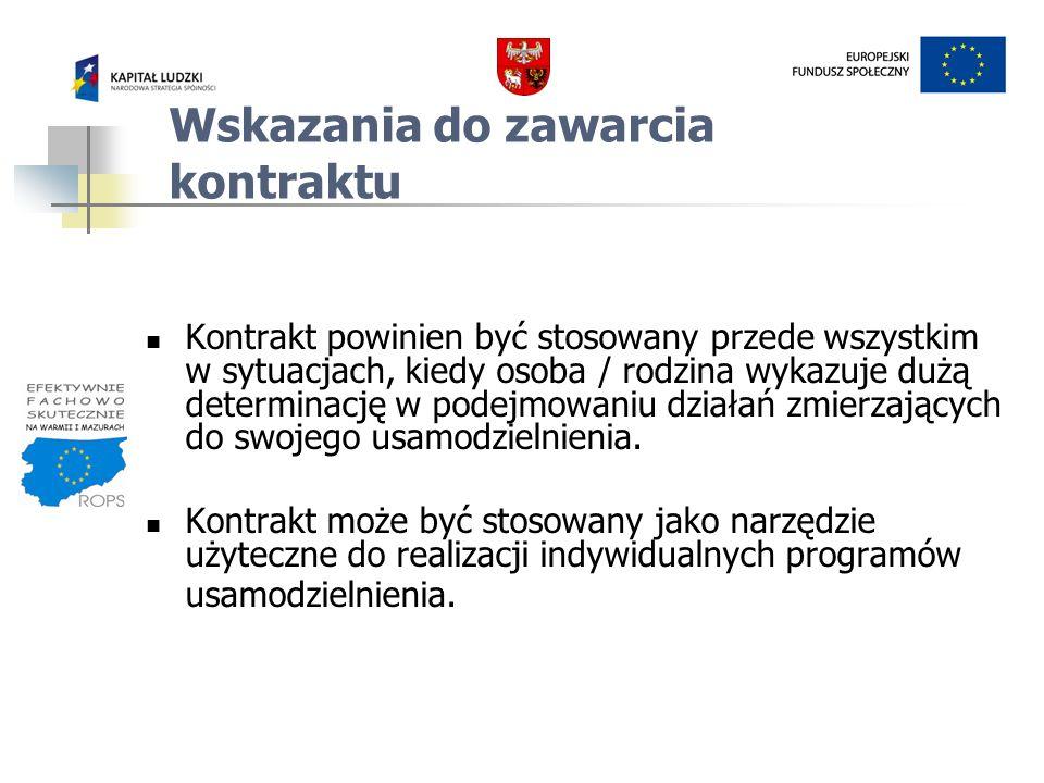 ETAPY METODYCZNEGO DZIAŁANIA W KONSTRUOWANIU KONTRAKTU SOCJALNEGO 1.