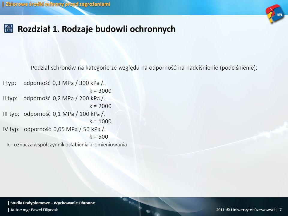   Studia Podyplomowe – Wychowanie Obronne 2011 © Uniwersytet Rzeszowski   18  Autor: mgr Paweł Filipczak Rozdział 1.